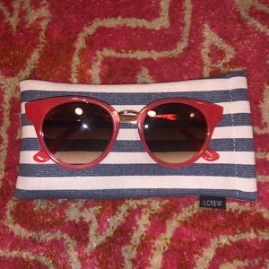 Used, J Crew Poppy Color Sunglasses for sale
